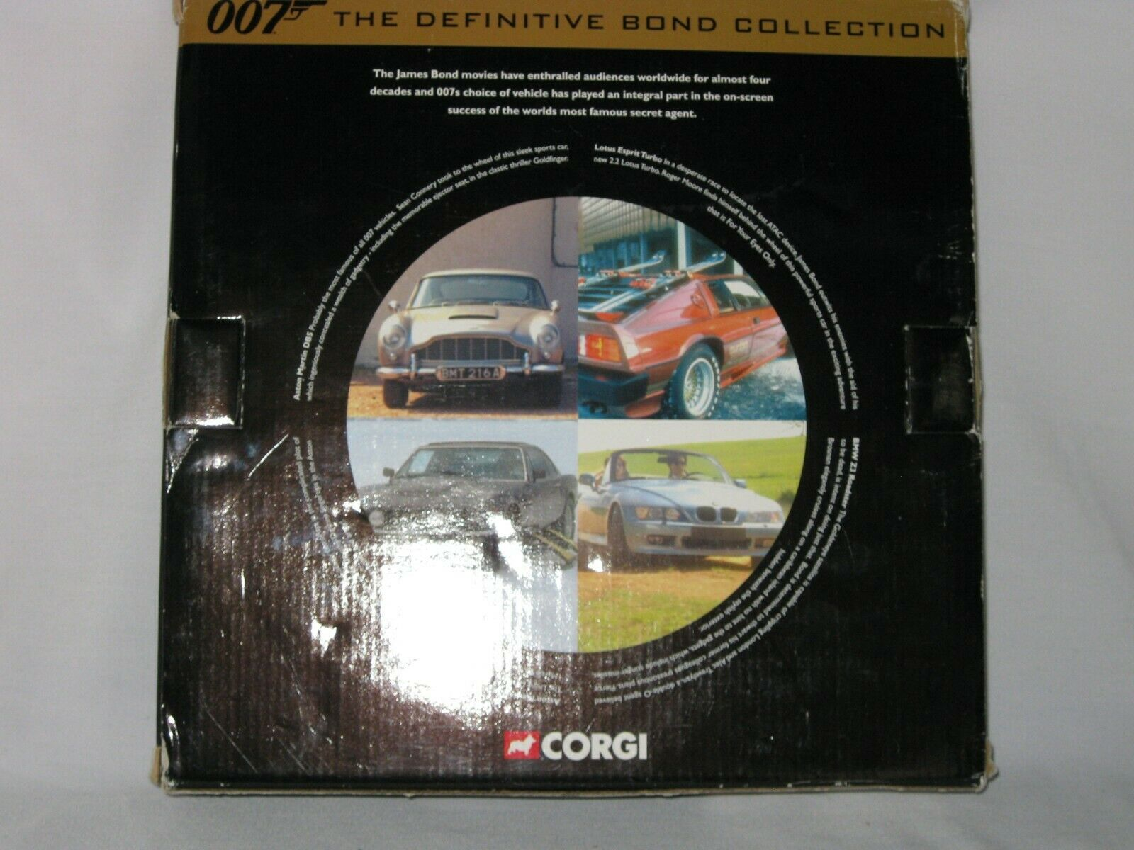 CORGI DEFINITIVE JAMES BOND 007 FILM CANISTER 4 PIECE SET CC99106 - EXCELLENT