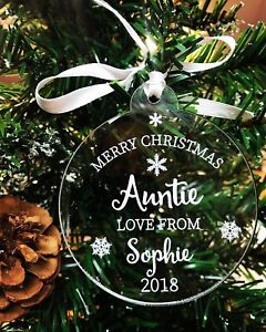 Personalised Name Acrylic Merry Christmas Bauble 2020 Christmas Decoration