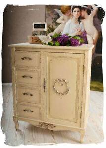 VINTAGE CHEST OF DRAWERS COUNTRY STYLE CABINET SHABBY CHIC KITCHEN ...