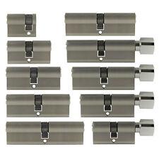 Zylinderschloss 30/10 - 50/50 40-100 mm Knauf Profil Tür Zylinder Schloss