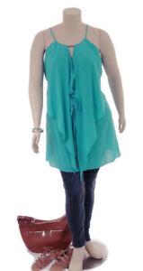 CITY-CHIC-Aqua-Sleeveless-Waterfall-Drape-Tunic-Top-Dress-Plus-Size-L-20
