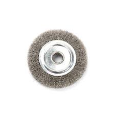 "1-1//2/""  Wire Wheel Brsh .008 Carbon Copper Ctr  3//8/"" Arbor FREE SHPG USA 4ea"