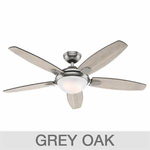 54 large led ceiling fan elegant grey oak driftwood brushed image is loading 54 034 large led ceiling fan elegant grey mozeypictures Gallery