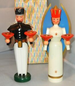 Miniatur ENGEL /& BERGMANN farbig NEU Erzgebirge Seiffen Volkskunst Original Holz