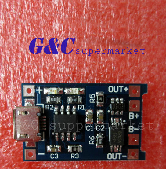 10pcs 5V MICRO USB 1A Lithium Battery Charging + Protection in one Board MG5