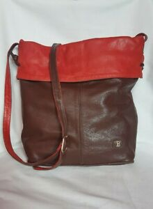 Borsa a Tracolla Cuoio Pelle Leather Crossbody bag Italian Made In Italy 203 reb