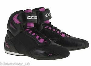 Alpinestars-STELLA-FASTER-2-Ladies-Commuter-Riding-black-Pink-Shoe-Boots-SALE