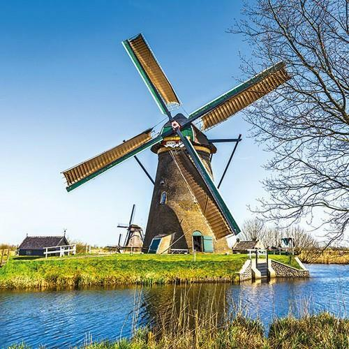 5 Napkins Dutch Windmill 33 x 33cm Tissue Decoupage Paper Party Card Crafts
