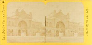 Francia Parigi Palais Da L Industria Foto PL61L10 Stereo Vintage Albumina Ca