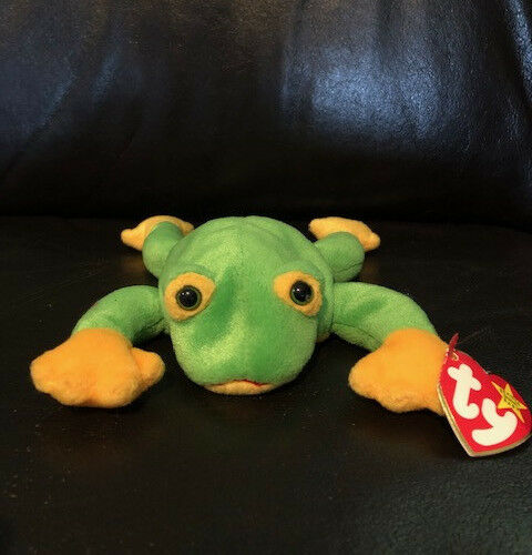 Smoochy TY Beanie Baby- Great condition, tag still attached