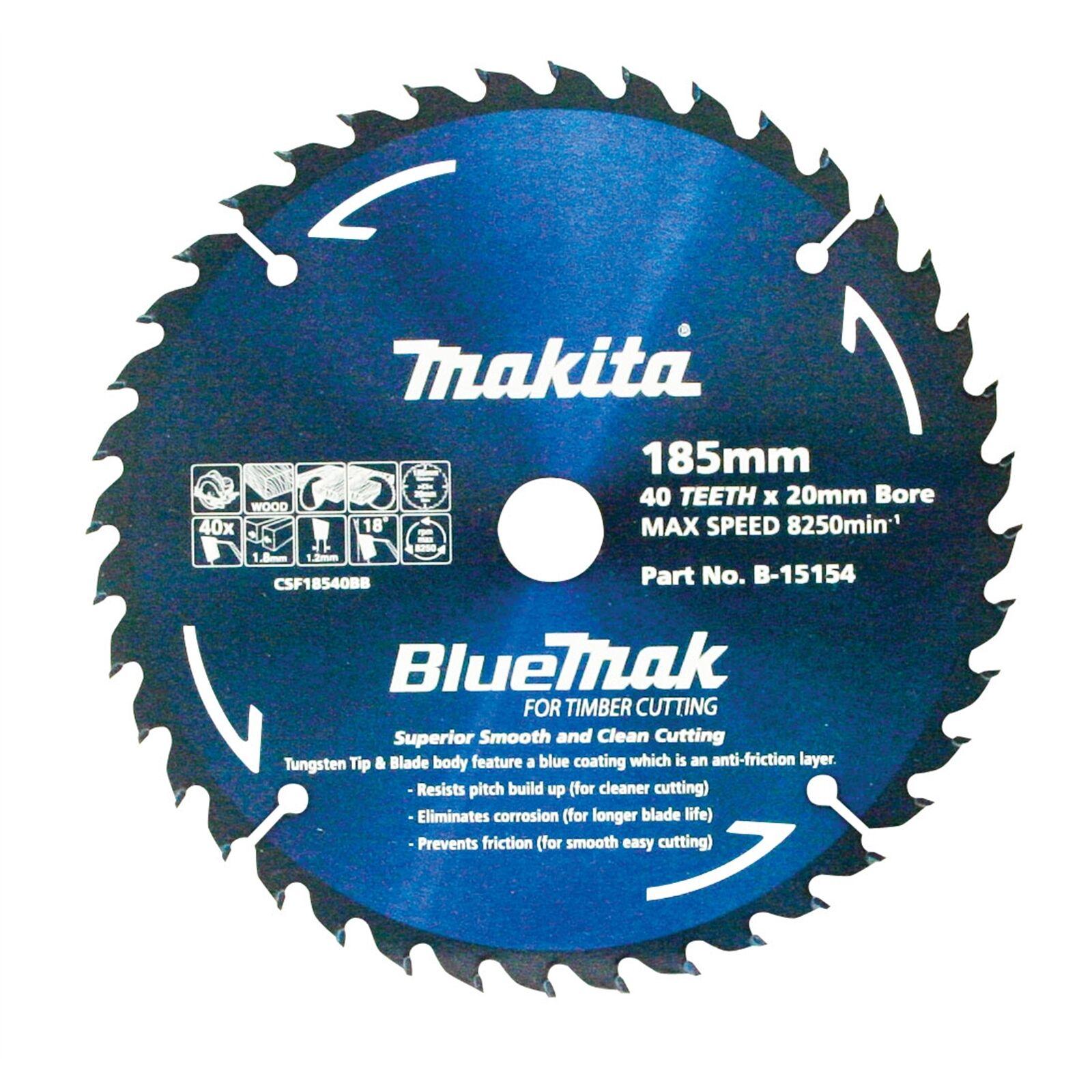 Makita BlauMAK CIRCULAR SAW BLADE 40 Teeth Smooth & Clean Cutting-185mm or 235mm