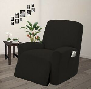 Image Is Loading Pique Stretch Form Fit Furniture Chair Recliner Lazy