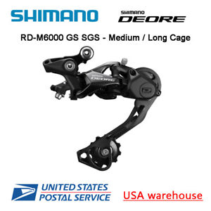 Shimano Deore M6000GS Shadow Bike Bicycle Rear Derailleur Direct Mount 10-Speed