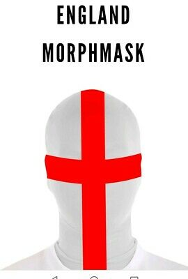 Morphsuits Mask ENGLAND FLAG one size fancy dress stag Halloween FOOTBALL
