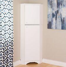 Prepac 72-inch Tall 2-Door Corner Storage Cabinet in Elite White Finish New