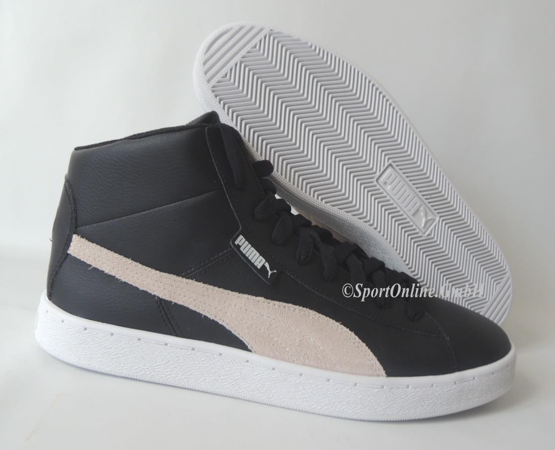 NEU Puma 48 Mid L Men Größe 45 Leder Schuhe Boots Sneaker 356733-02 schwarz