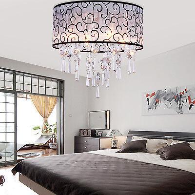 SALE Modern Cylinder Crystal Pendant Flush Mount Chandelier Ceiling Lamp Fixture