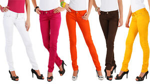Sexy Womens Coloured Skinny Slim Fit Jeans Sizes 36 42 S Xl Hq Fs Y Ebay