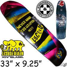 """BLACK Label-EMERGENZA """"Never Mind"""" Lucero Skateboard Deck 9.25"""" POOL Vert"""