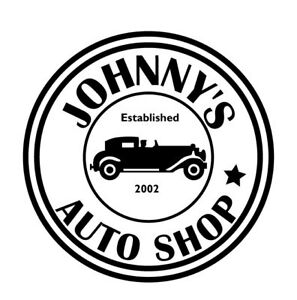 CUSTOM AUTO SHOP SIGN DECAL STICKER FOR GARAGE WORKSHOP MAN - Custom auto decal stickers