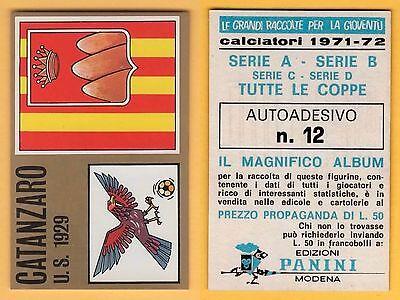 FIGURINA CALCIATORI PANINI 1971//72 FRANZON CATANZARO NUOVA//NEW