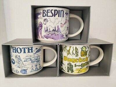 Star Wars Starbucks Been There Mugs Complete Set Of 3 Hoth Bespin Dagobah New Ebay