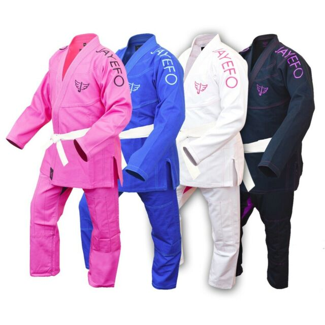 Ladies BJJ Gi Brazilian Jiu Jitsu Suit Jujitsu Uniform Adult Youth Girls Women