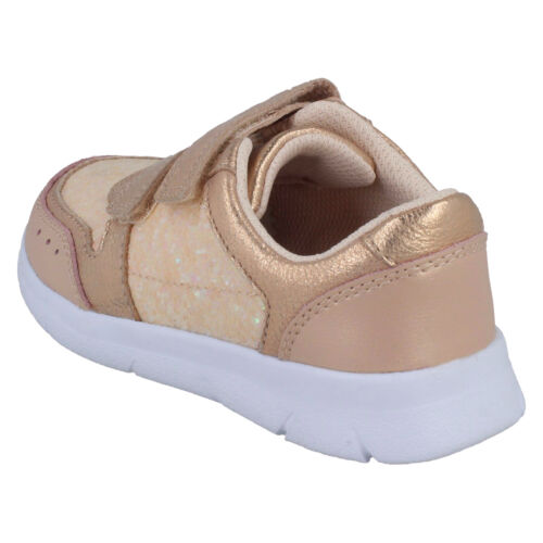 GIRLS CLARKS ATH SONAR T HOOK /& LOOP INFANT CASUAL SHOES SPORTS TRAINERS SIZE