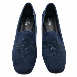 Azura-Fleurde-Loafer-Women-039-s-Size-7-5-8-Blue