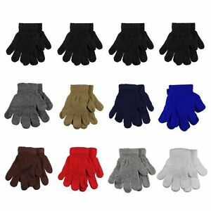 Gelante-Toddler-Children-Winter-Knitted-Magic-Gloves-Wholesale-Lot-12-Pairs