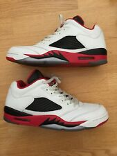 new product bee8f 7ca16 item 6 Nike Air Jordan 5 V Retro Low White Fire Red Black 819171-101 Men s  Size 12 -Nike Air Jordan 5 V Retro Low White Fire Red Black 819171-101  Men s Size ...