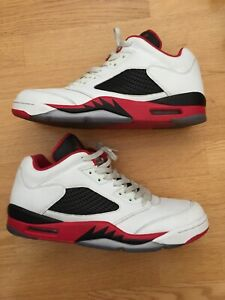 sale retailer 63968 852b0 Image is loading Nike-Air-Jordan-5-V-Retro-Low-White-