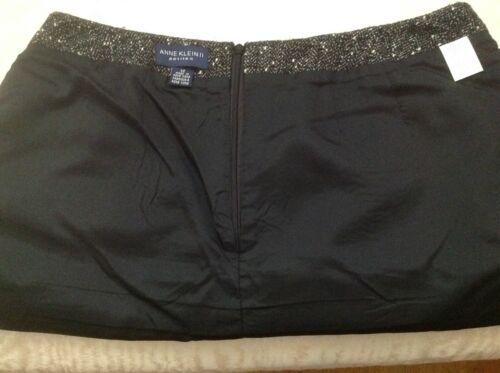 Tweeded Klein Wool 12 Womens Anne Sz Suit Grey Skirt Blazer qUwF0FSx7