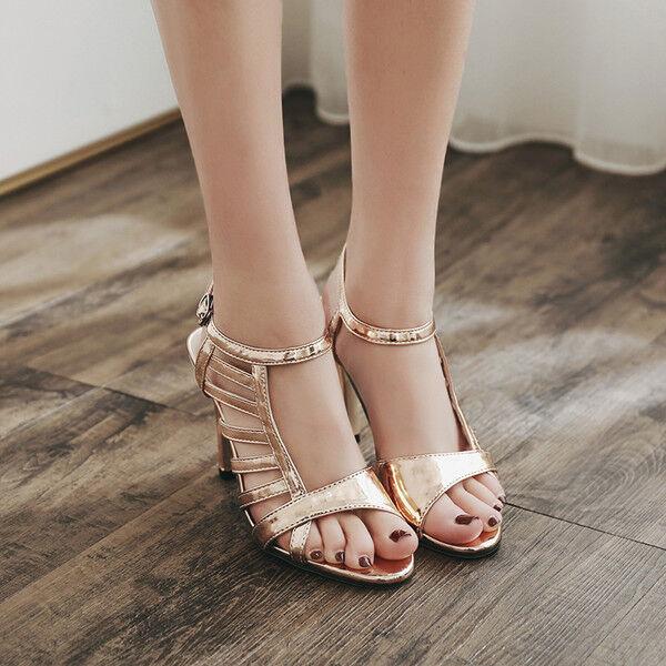 Sandale stiletto eleganti tacco   12 cm  oro simil pelle eleganti 9975