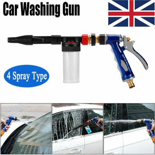 Snow Foam Car Wash Spray Gun Lance Uses Hose Pipe Multifunctional Washing Gun UK