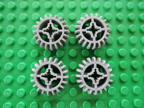 Lego Technic 4 x Zahnrad 20 Zähne 32269 alt hellgrau