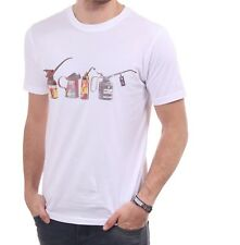 27aa572ac item 4 Paul Smith Oil Cans Print T Shirt - Crew Neck - White - Small Medium  Large XL -Paul Smith Oil Cans Print T Shirt - Crew Neck - White - Small  Medium ...