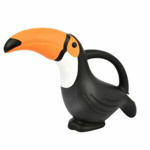 Esschert-Watering-Can-TOUCAN-Black-with-Orange-Beak-Plastic-TG283