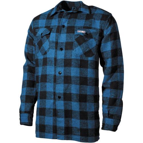 Fox Outdoor Lumberjack Shirt Flannel Mens Long Sleeve Work Blue Black Checkered