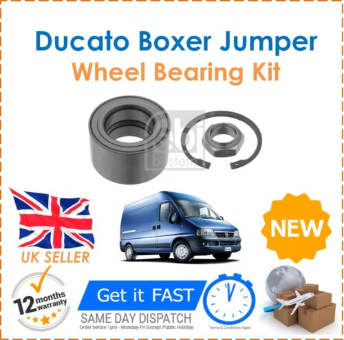 Front Wheel Bearing Kit New OE Quality For Fiat Ducato Peugeot Boxer 244 2002