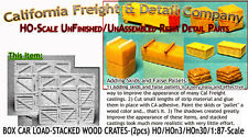 BOX CAR LOAD-STACKED WOOD CRATES 2pcs Scale Model Masterpieces Yorke HOn3 Fine