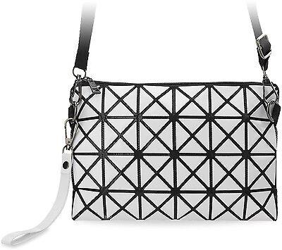 3D Damentasche Clutch - Tasche kleine Schultertasche weiß