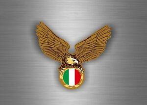 Sticker-adesivo-adesivi-auto-tuning-biker-bandiera-aquila-casco-italia-italiano