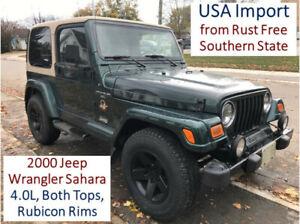 2000 Jeep Wrangler Sahara - USA Import
