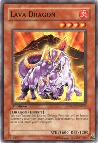 3x Yugioh RGBT-EN037 Lava Dragon Common Card