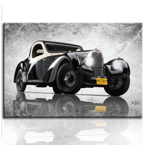 Bugatti Type 57 SC Baujahr 1937 Oldtimer Auto Bilder Leinwand Wandbild XXL152 A