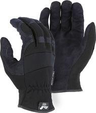 Hawk Armor Skin Mechanics Style Work Riding Gloves Synthetic Leather 2136bk