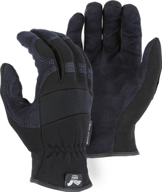 Hawk Armor Skin Gloves Black Med Usmc Artillery Logo For Sale
