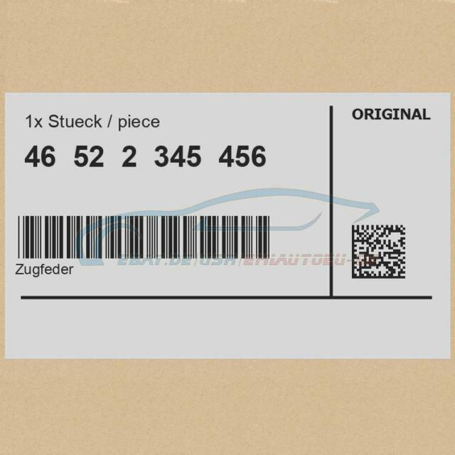 Original BMW 46522345456 - [SUPER PREIS] Zugfeder