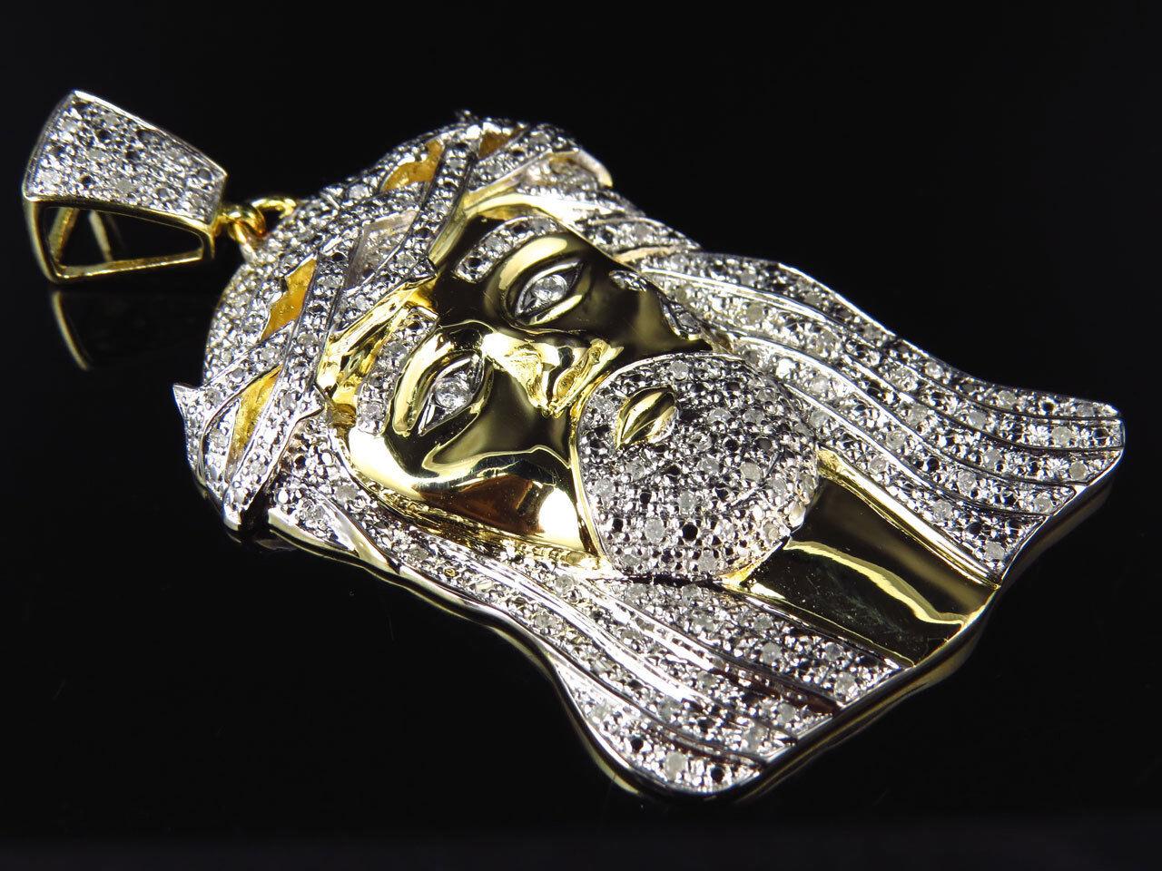 Grande Diamante Vero Vero Vero Premium Gesù Pezzi Ciondolo in oro Giallo Finish (1.0ct) 0ba213